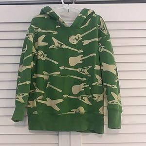 Mini Boden Green Guitar Sweatshirt, Hoodie